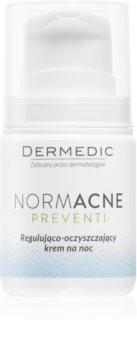 Dermedic Normacne Preventi noćna krema za čišćenje i regulaciju kože lica