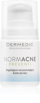 Dermedic Normacne Preventi нощен регулиращ и почистващ крем за лице
