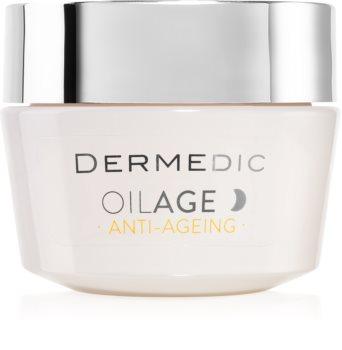Dermedic Oilage Anti-Ageing Genoprettende natcreme til at genskabe hudens densitet