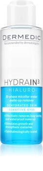 Dermedic Hydrain3 Hialuro acqua micellare bifasica per gli occhi
