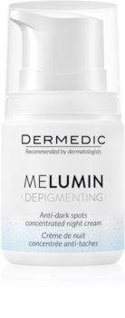 Dermedic Melumin noční krém proti tmavým skvrnám