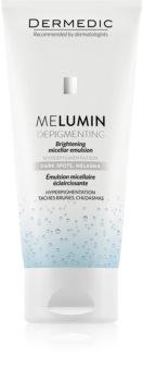 Dermedic Melumin mizellen Reinigungsemulsion Für hyperpigmentierte Haut