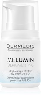 Dermedic Melumin aufhellende Creme gegen Pigmentflecken SPF 50+