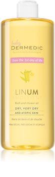 Dermedic Linum Emolient Bruse- og badegel til atopisk hud