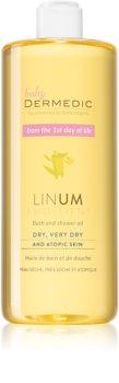 Dermedic Linum Emolient huile bain et douche pour peaux atopiques