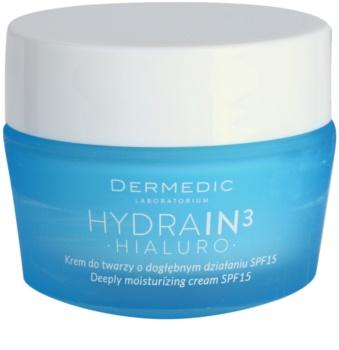Dermedic Hydrain3 Hialuro crema di idratazione profonda SPF 15