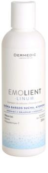 Dermedic Linum Emolient champô apaziguador para couro cabeludo sensível