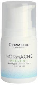 Dermedic Normacne Preventi Nachtcreme zur Regulation und Reinigung