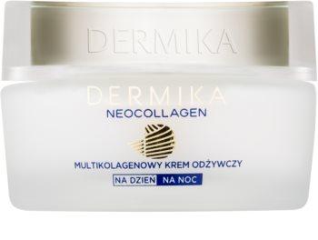 Dermika Neocollagen crème nourrissante pour réduire les rides et la peau flasque 70+
