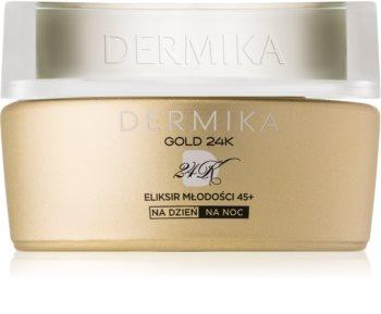 Dermika Gold 24k Total Benefit luksusowy krem odmładzający 45+