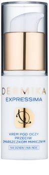 Dermika Expressima crema para contorno de ojos para las líneas de expresión