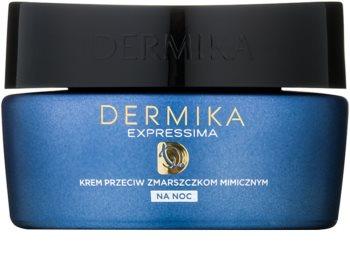 Dermika Expressima regenerujący krem na noc przeciw zmarszczkom mimicznym