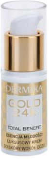 Dermika Gold 24k Total Benefit luksuzna krema za pomlađivanje za okoloočno područje