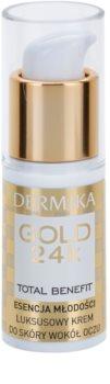 Dermika Gold 24k Total Benefit луксозен подмладяващ крем за околоочната област