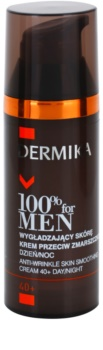 Dermika 100% for Men изглаждащ крем против бръчки 40+