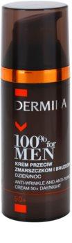 Dermika 100% for Men krem przeciw głębokim zmarszczkom 50+