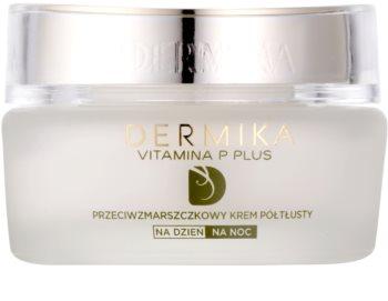 Dermika Vitamina P Plus krem przeciw zmarszczkom do skóry wrażliwej ze skłonnością do przebarwień