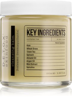 Detox Skinfood Key Ingredients balsamo detergente