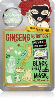 Dewytree Black Mask Ginseng maska odżywcza w płacie