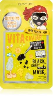 Dewytree Black Mask Vita Caviar maska nawilżająca w płacie