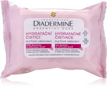 Diadermine Essentials salviette detergenti viso per pelli sensibili e secche
