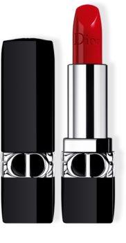 DIOR Rouge Dior Rouge à lèvres rechargeable couleur couture - 4 finis : satin, mat, métallique et velours - soin floral - confort et longue tenue