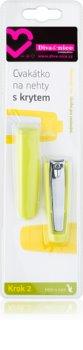 Diva & Nice Cosmetics Accessories kleštičky na nehty s pouzdrem
