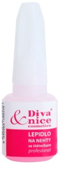 Diva & Nice Cosmetics Accessories lepidlo na nehty se štětečkem