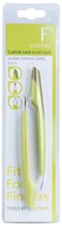 Diva & Nice Cosmetics Accessories multifunkciós eszköz a körömbőr ápolására 3 az 1-ben