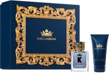 Dolce & Gabbana K by Dolce & Gabbana set cadou IV. pentru bărbați