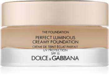 Dolce & Gabbana The Foundation Perfect Luminous Creamy Foundation maquillaje iluminador en crema SPF 15
