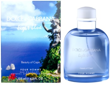 Dolce & Gabbana Light Blue Beauty of Capri eau de toilette para homens 125 ml
