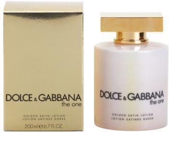 Dolce & Gabbana The One lapte de corp pentru femei 200 ml auriu satinat