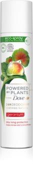 Dove Powered by Plants Geranium освежающий дезодорант-спрей