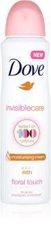 Dove Invisible Care Floral Touch Valkoisia Merkkejä Ehkäisevä Antiperspirantti Ilman Alkoholia
