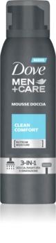 Dove Men+Care Clean Comfort espuma de banho 3 em 1