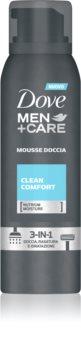 Dove Men+Care Clean Comfort spumă pentru duș 3 in 1