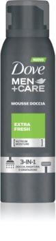 Dove Men+Care Extra Fresh espuma de banho 3 em 1