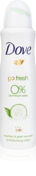 Dove Go Fresh Cucumber & Green Tea deodorant bez alkoholu a obsahu hliníku 24h