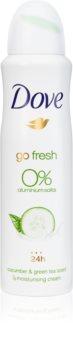 Dove Go Fresh Cucumber & Green Tea desodorizante sem álcool e alumínio 24 h