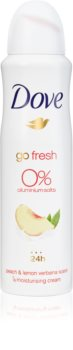 Dove Go Fresh Peach & Lemon Verbena déodorant en spray sans aluminium