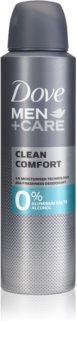 Dove Men+Care Clean Comfort desodorizante sem álcool e alumínio 24 h