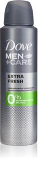 Dove Men+Care Extra Fresh desodorizante sem álcool e alumínio 24 h