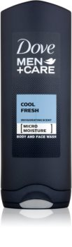 Dove Men+Care Cool Fresh osvěžující sprchový gel na obličej a tělo