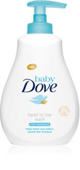 Dove Baby Rich Moisture gel de limpeza para corpo e cabelo