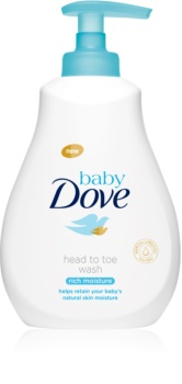 Dove Baby Rich Moisture почистващ гел за тяло и коса