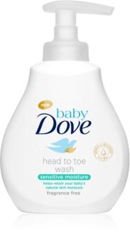 Dove Baby Sensitive Moisture gel de limpeza para corpo e cabelo