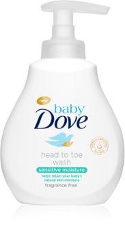 Dove Baby Sensitive Moisture gel za umivanje za telo in lase