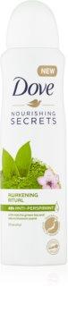 Dove Nourishing Secrets Awakening Ritual antitranspirante em spray com efeito de 48 horas