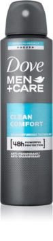 Dove Men+Care Clean Comfort αποσμητικό αντιιδρωτικό σε σπρέι 48 ώρες